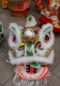 Lion dance head
